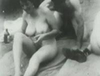Gruppensex im Wald Vintage Porno