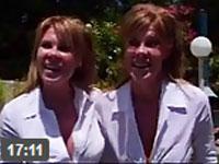 Zwillinge machen einen Flotten Dreier