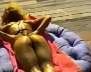 Blondine wird Outdoor gefickt