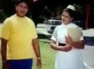 Süsse mollige Krankenschwester von ihrem Freund gefickt